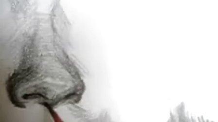 鼻子素描画法4