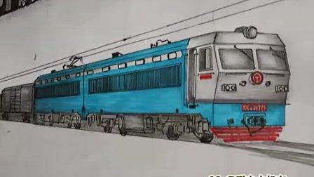 手绘火车作品集