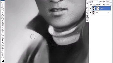 ps-修复黑白折旧照片