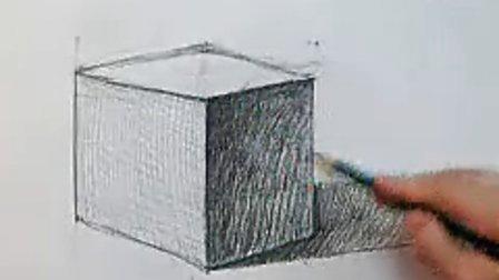 王娇玲/《素描如此简单》一书教程////石膏几何体/立方体_标清