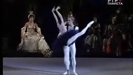 芭蕾舞 天鹅湖 黑天鹅大双人舞 片段(vishneva and denis )