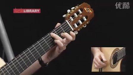 """轻松吉他教程:古典吉他技术 - """"绿袖子""""曲示范和分解"""