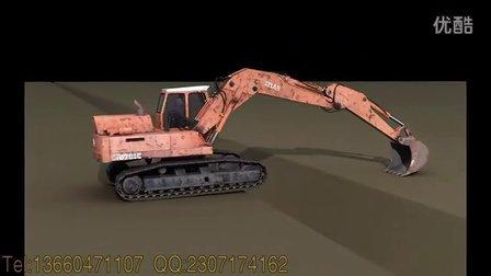 广州挖掘机工作原理,广州3d动作原理动画制作公司-柏维创意