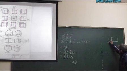成都方兴学校室内设计手绘效果图之成角透视