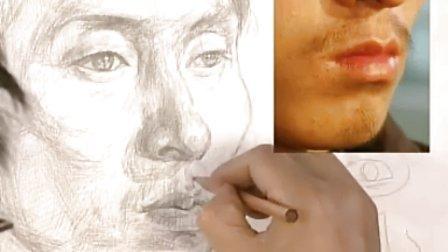 小孩头像素描纹身