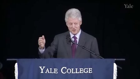 比尔克林顿耶鲁大学演讲