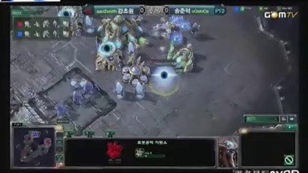 100924 GSL星际2公开赛16强第一日 san(P) vs InCa(P) 01 2010