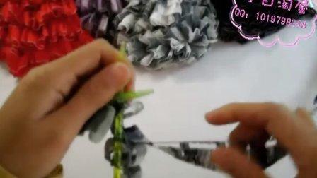 小白编织 视频教程 渔网线(铁道纱)织法第二集 围巾线