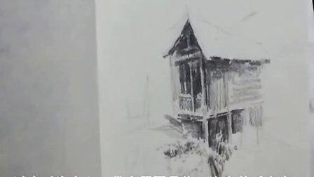 郭水根 铅笔风景速写 房子的画法