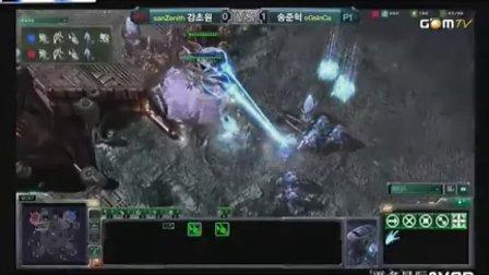 星际二 100924 GSL十六强第一日san (P) vs InCa (P) 02 2010