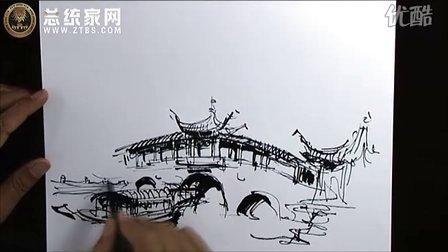 余工钢笔速写——庐山手绘艺术特训营