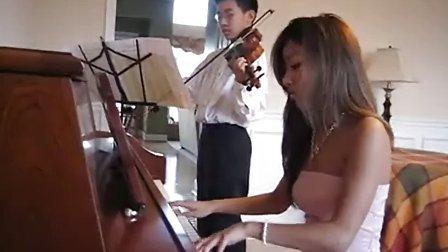 钢琴 小提琴 二重奏 d调卡农