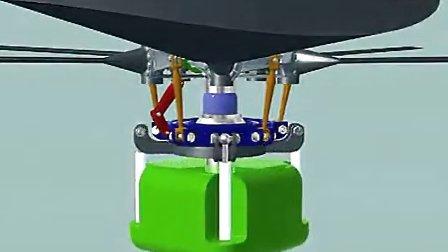 直升飞机旋翼头原理动画s-61 sea king 直升机旋翼机桨盘_标清视频