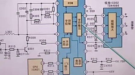 卡特320c显示器插头电路图