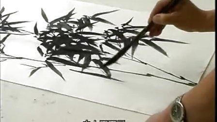 张大林花鸟画讲座国画竹子画法(一)图片