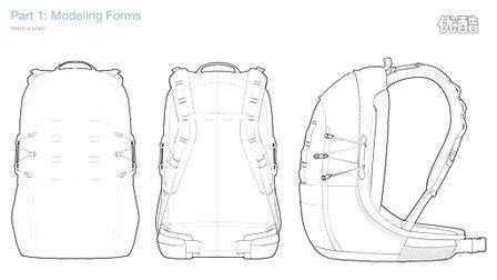 背包手绘设计稿