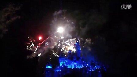 迪士尼城堡简笔画星空