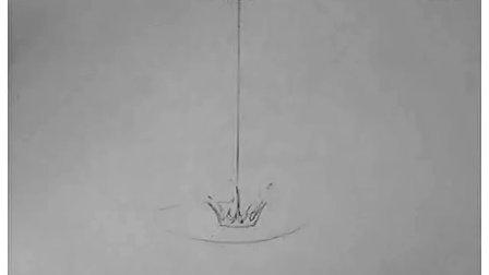 水滴波的画法铅笔画
