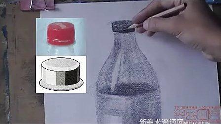 瓶罐静物素描,画可口可乐瓶素描,素描静物可乐瓶,静物瓶素描