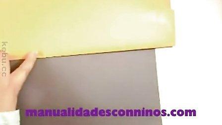 [西班牙语幼儿园儿童手工]制作纸质小狗手偶玩具