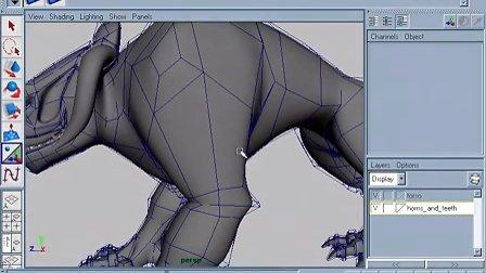 四足动物怪兽建模