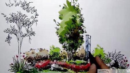福建手绘--景观马克笔上色