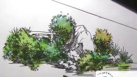 福建手绘----园林小品组合