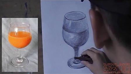 华艺素描静物玻璃杯画法