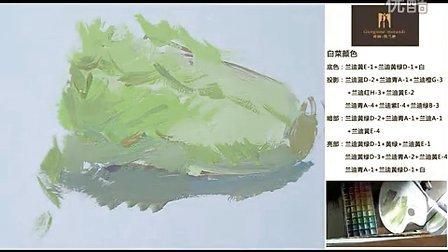 杭州山水行画室艾鹏色彩单个物体作画视频-大白菜视屏示范