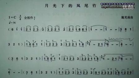 81 月光下的凤尾竹 葫芦丝教学 识谱技巧练习前句滑音运用