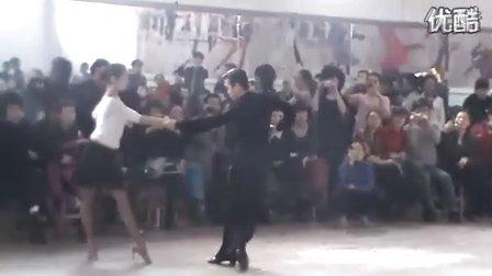 一个拉丁舞恰恰小套路