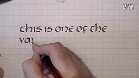 英文连笔美工字体素材
