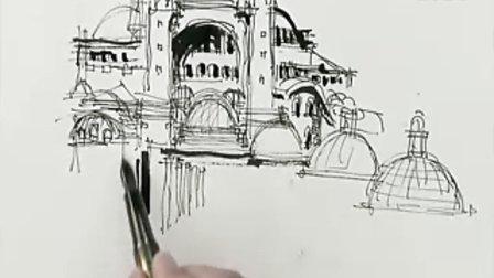 余工钢笔手绘