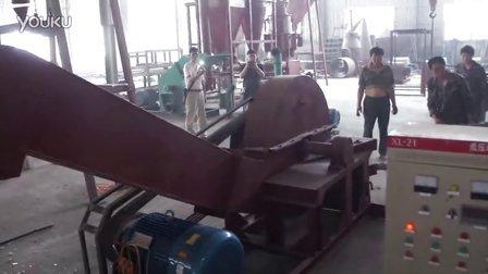 原木削片机视频