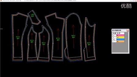 博克服装CAD教程视频-3CAD裁片中心取消如何2014cad右上角图片