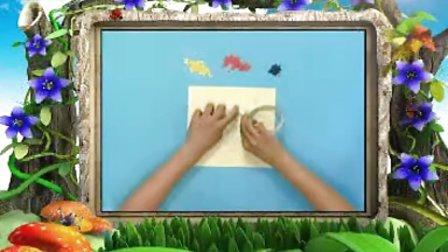 幼儿园手工 精彩贴画之玫瑰花 手工视频
