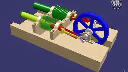 蒸汽机调速原理图