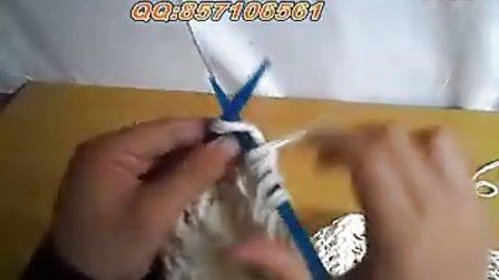 围巾编织围巾织法 鱼骨针织法 www.meilishouce.com 毛衣编织视频大全