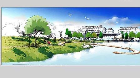 园林景观手绘建筑手绘电脑ps卡通手绘技巧