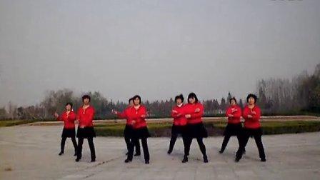 孟集红红广场舞桃花朵朵开