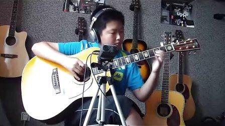 12岁少年翻弹押尾桑指弹吉他曲《 fight》 !