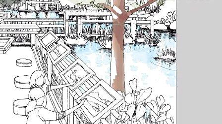 手绘园林景观手绘建筑手绘电脑ps手绘技巧笔刷设置