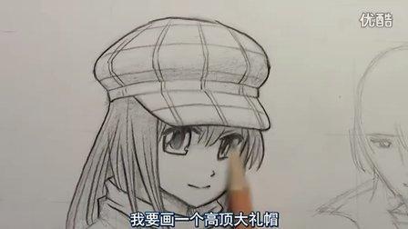 mark crilley漫画教程:帽子的画法(中字)