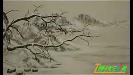 古诗词江雪插图简笔画