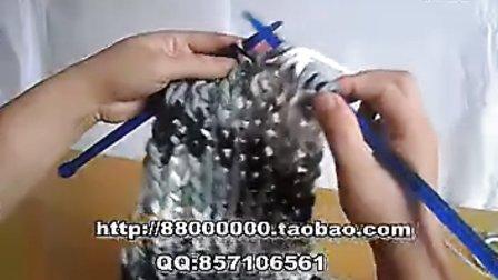 围巾编织围巾织法 麦穗元宝针 www.meilishouce.com 毛衣编织视频大全