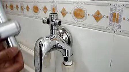 明装淋浴水龙头安装演示视频