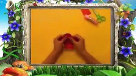 幼儿园特色手工《益智折纸之红灯笼》手工视频