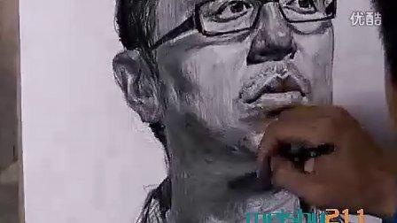 央美朱传奇素描头像示范3-中国美术高考网www.meishu211.com
