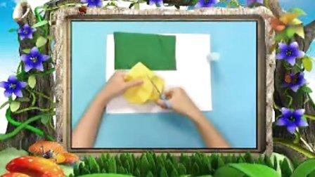 幼儿手工制作《趣味布艺之雨伞》手工视频