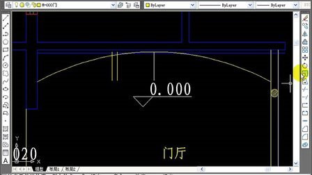cad2009视频教程 第10章别墅室内设计-绘制门厅平面布置图